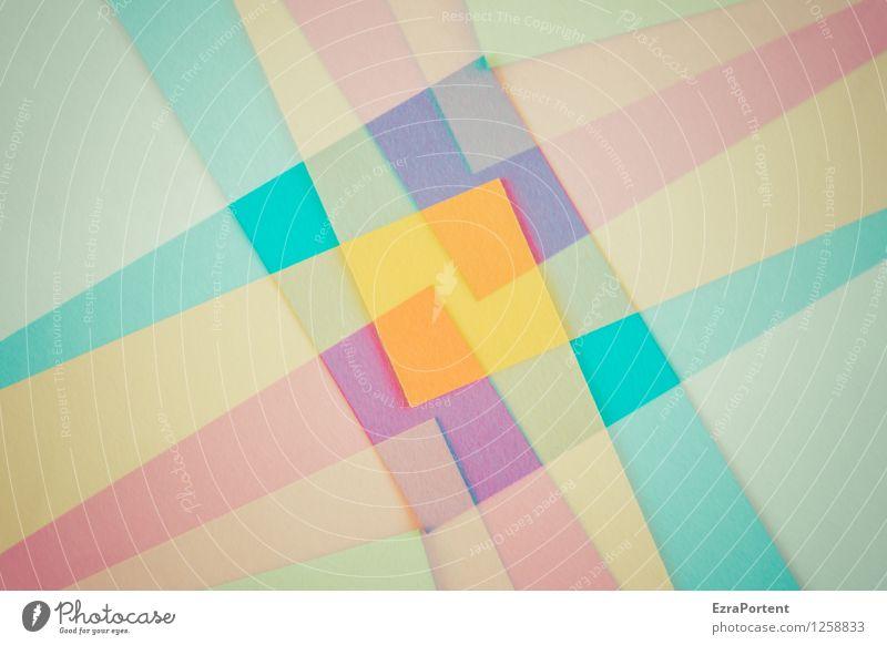 Blue Green Colour White Red Yellow Style Line Art Bright Orange Design Elegant Esthetic Illustration Level