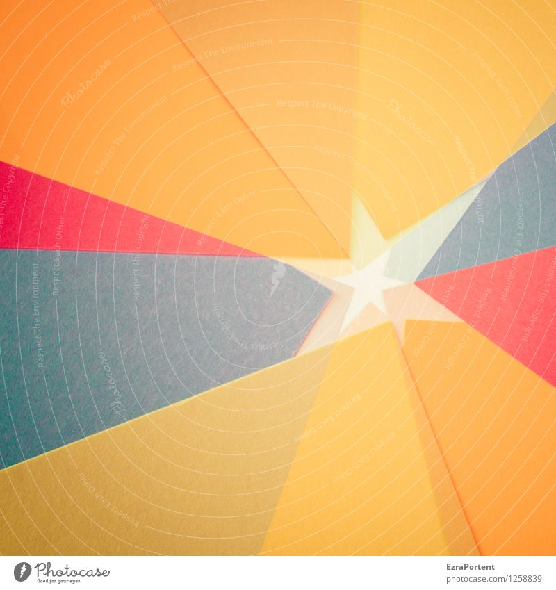 Stars and starlets Elegant Style Design Leisure and hobbies Playing Handicraft Sign Line Esthetic Multicoloured Orange Red Black Colour Structures and shapes
