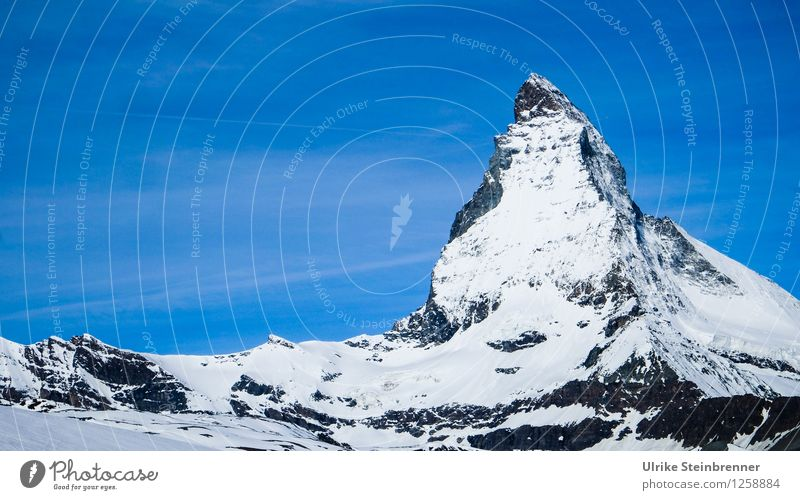 matte horn Vacation & Travel Tourism Snow Mountain Hiking Environment Nature Landscape Cloudless sky Spring Beautiful weather Ice Frost Alps Matterhorn Peak