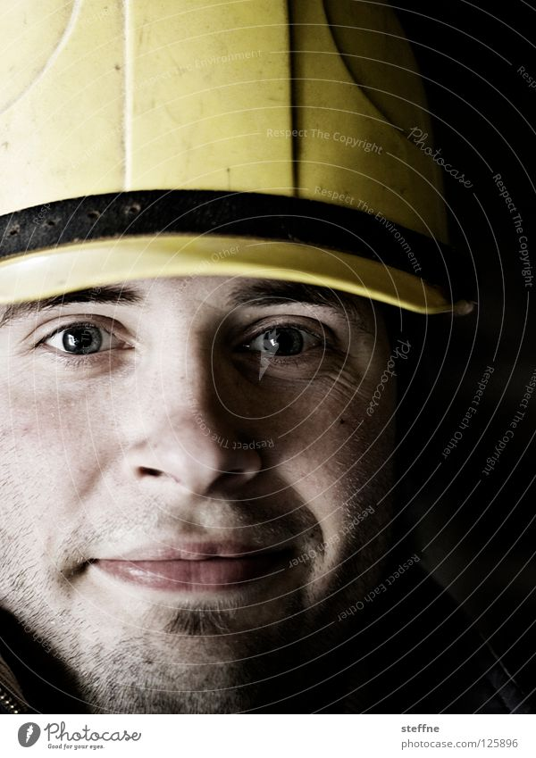 Safety First! Construction worker Builder Craft (trade) Craftsperson Construction site Helmet Accident Headwear Portrait photograph Man Masculine Hard Strong