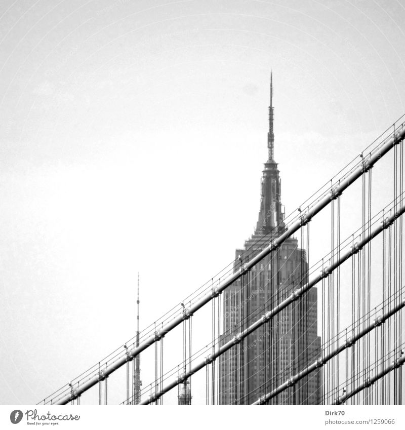 New York nostalgic II New York City Manhattan USA Town Downtown Skyline High-rise Bridge Tower Manmade structures Suspension bridge Rope supporting structure