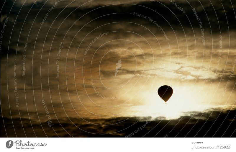 Sky Clouds Dark Fear Hot Air Balloon Thunder and lightning Monochrome Extreme sports