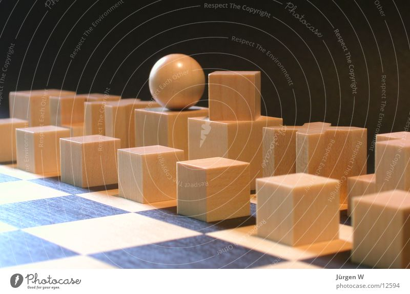 Bauhaus chess game Playing Wood Wood flour Things Chessboard hard-headed Wooden board figures Architecture Chess piece