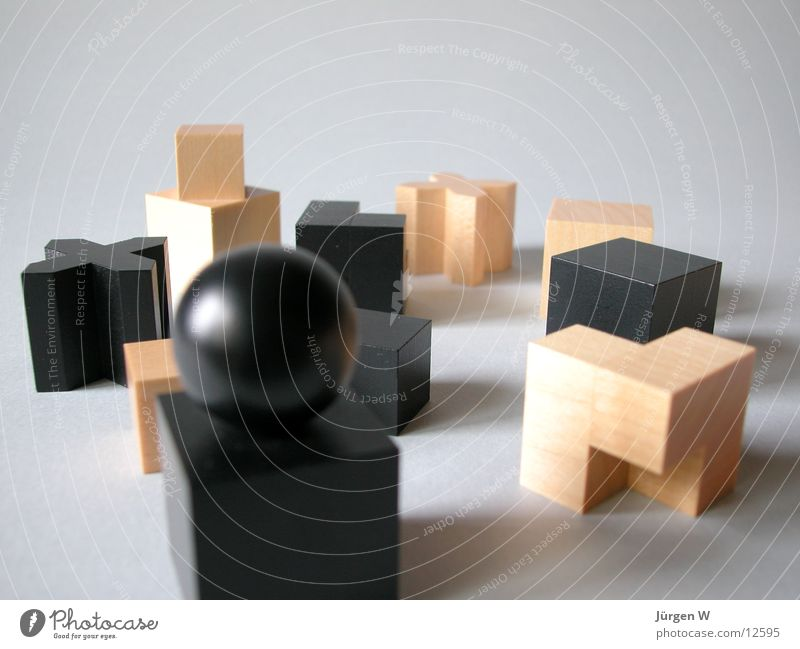 Bauhaus chess pieces Playing Wood Wood flour Things hard-headed figures game Architecture Chess piece