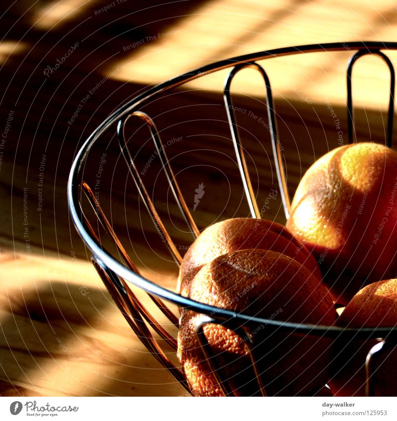 Breakfast at Tiffany Morning Brunch Weekend Sunday Relaxation To enjoy Orange Basket Table Sunlight Fruit early morning Nutrition Bowl Shadow reflection