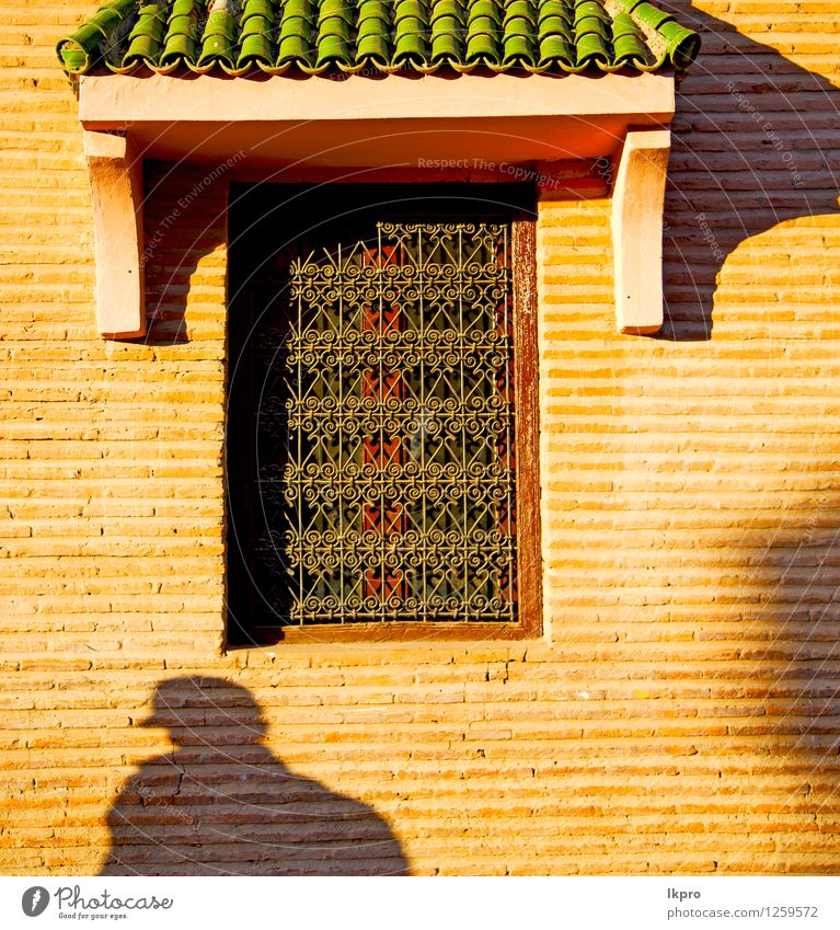 window in morocco africa and old construction wal brick City Old House (Residential Structure) Architecture Building Stone Metal Facade Design Decoration Dirty Concrete Retro Protection Safety Historic