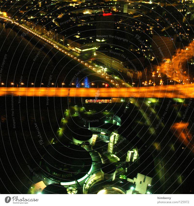 City Blue Street Lamp Lighting High-rise Lifestyle Bridge Modern Tower Point Skyline Duesseldorf Exposure Airport