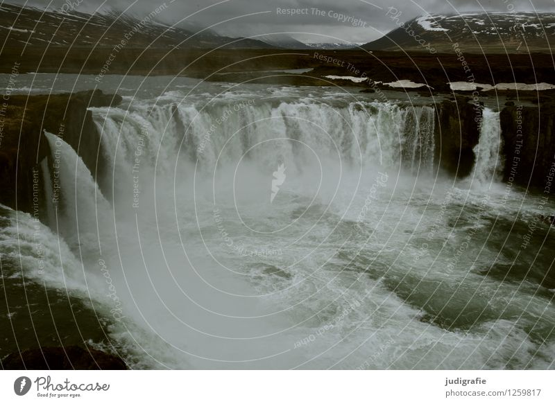 Nature Water Landscape Dark Cold Environment Natural Exceptional Moody Wild Power Climate Wet Elements River Iceland