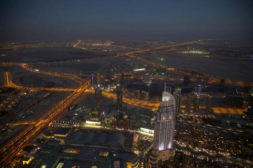 Sea of Lights 4 Vacation & Travel Sightseeing City trip Architecture Dubai Capital city Downtown Skyline High-rise Road traffic Crossroads Overpass Exceptional