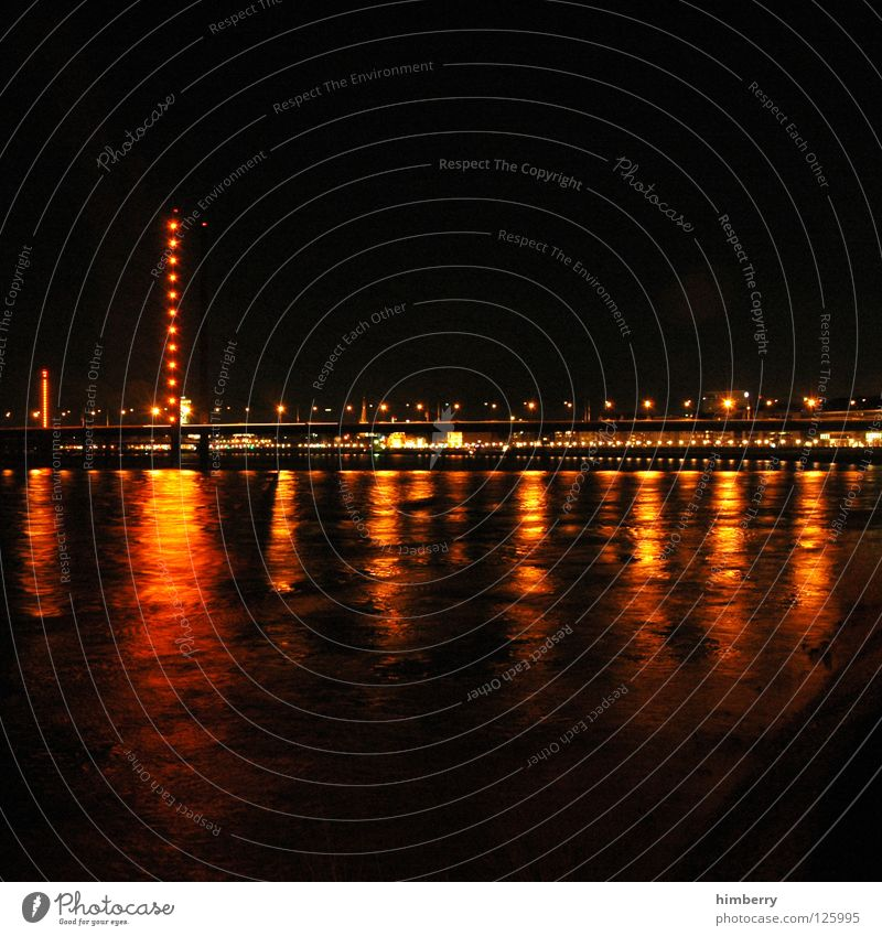 golden gate case Town Lifestyle Night life Transmit Transmitting station Long exposure Exposure City life High-rise Bridge Duesseldorf Evening Modern Street