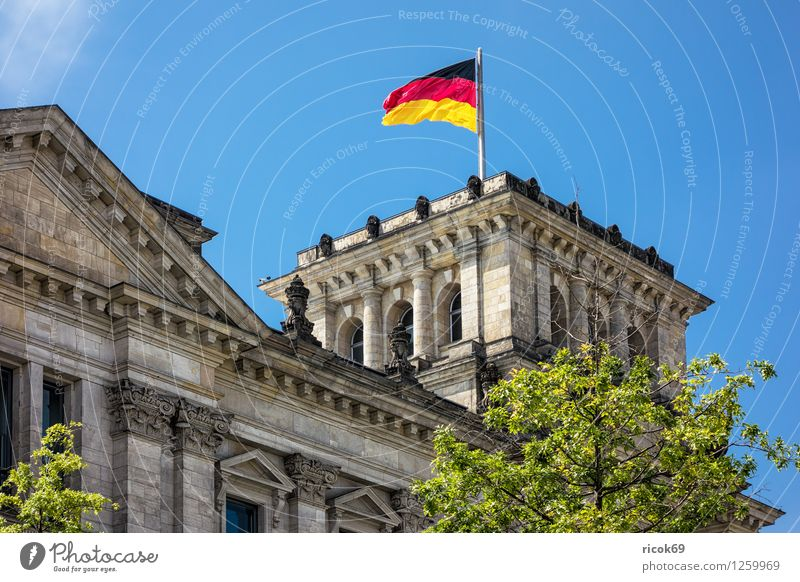 Reichstag building Vacation & Travel Tourism House (Residential Structure) Clouds Town Capital city Downtown Manmade structures Building Architecture