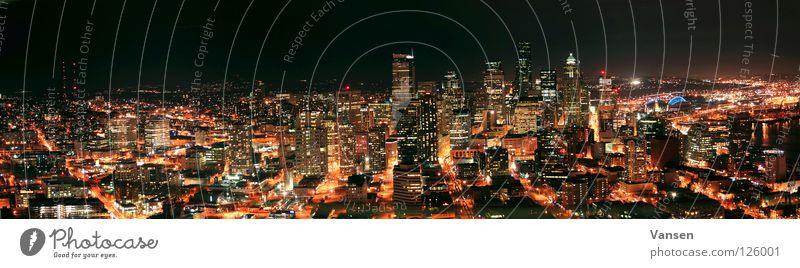 City Dark Large High-rise USA Skyline Panorama (Format) Vessel