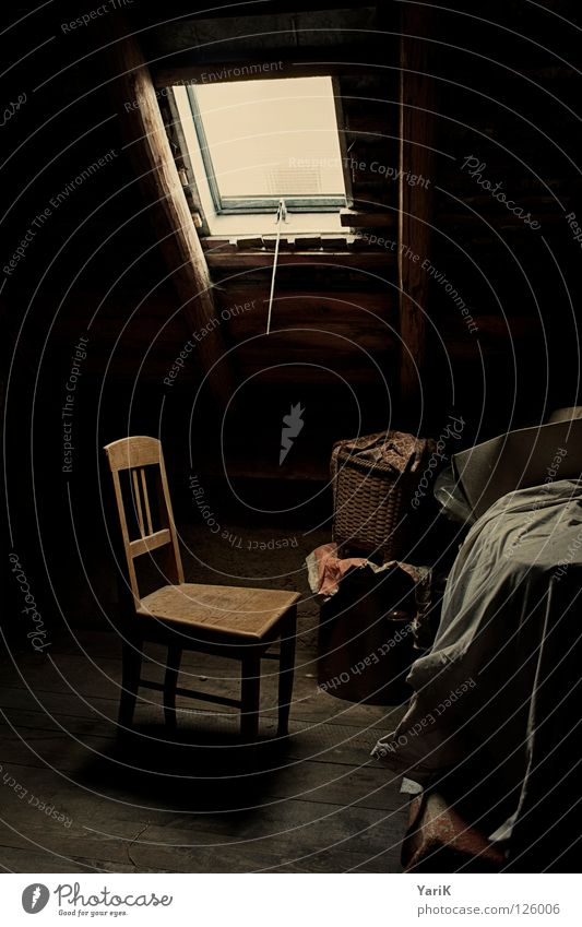 Old Calm Loneliness Dark Window Wood Small Sadness Think Room Lighting Time Wait Roof Chair Soft