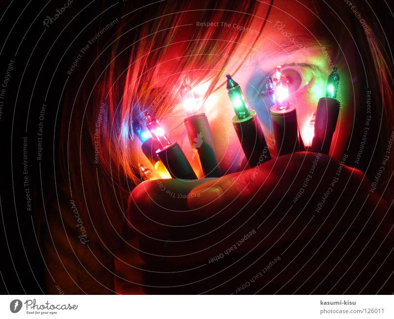 fascination light chain Light Fairy lights Dark Girl Multicoloured Crazy Christmas & Advent Boredom