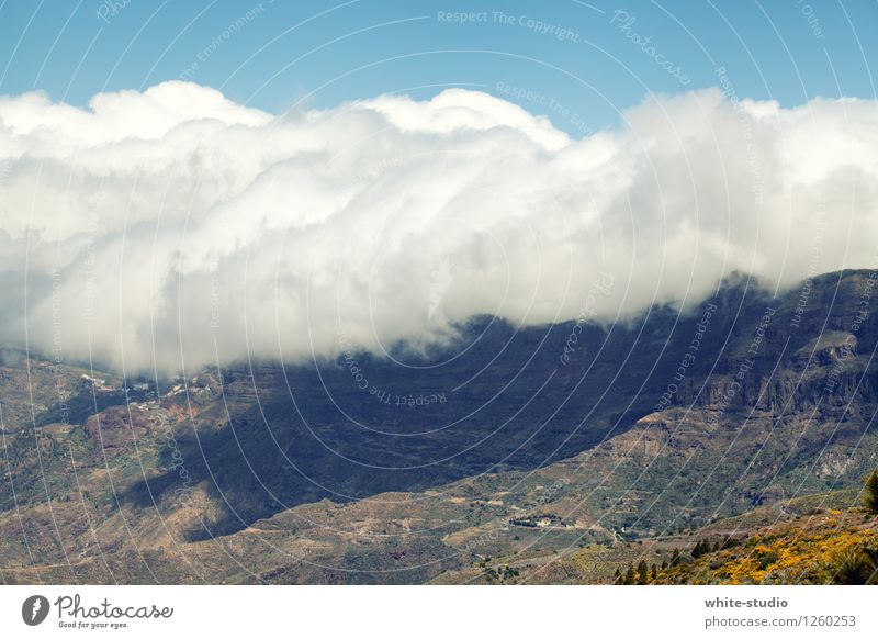 cloud mountains Hill Rock Mountain Discover Clouds Cloud field Mountain cloud Bank of clouds Band of cloud Cloud formation Mountain range Colour photo