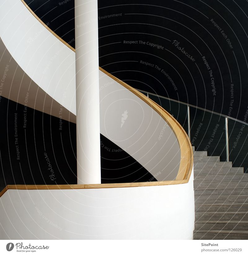 White Black Gray Architecture Stairs Handrail Go up