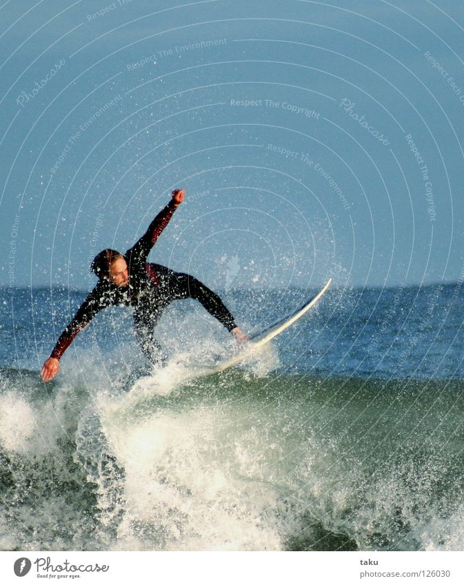 ...YEEEAAAHHH...III New Zealand Surfer Surfboard Jump Summer Sports Aquatics p.b. damon exciting sun sea waves big waves blue wetsuit cold water watching hours