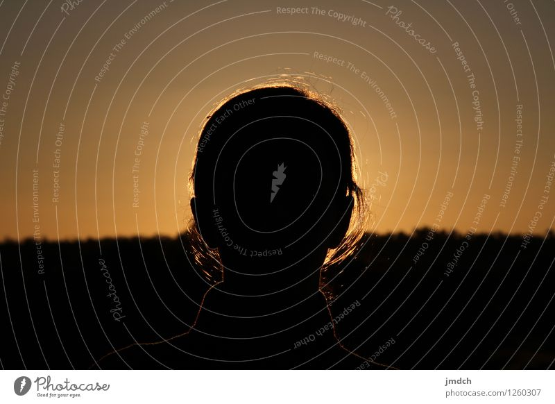 dark sun - sunset - sunrise - an other day Vacation & Travel Trip Summer Summer vacation Sun Human being Woman Adults Head 1 Nature Landscape Elements Air Sky
