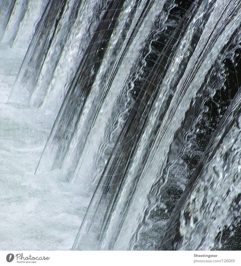 Water White Blue Cold Movement Waves Wet River Sudden fall Curve Downward Waterfall Flow Foam Crash Stream