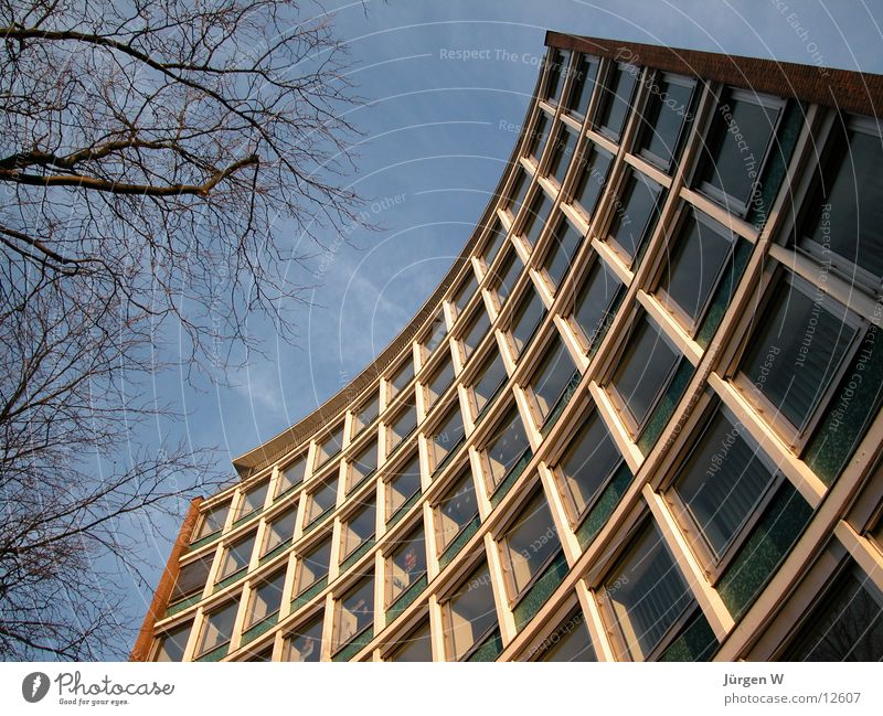 arch Building Facade Window Sky Architecture Historic Duesseldorf Tall bent high Front side