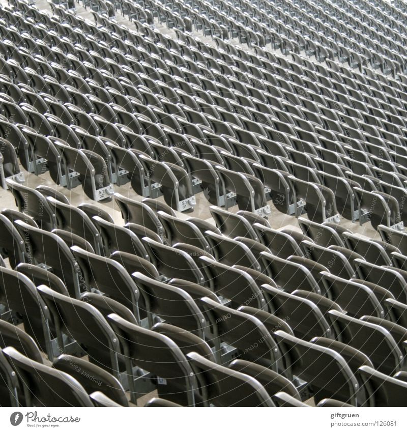 folding chair as standard Stadium Seating Stands Consistent Infinity Pattern Empty Disorientated Seating capacity plastic seat PVC Row of seats chair landscape