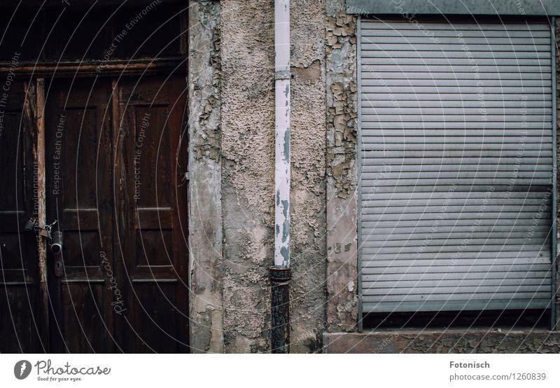 House (Residential Structure) Facade Door Broken Creepy Roller shutter