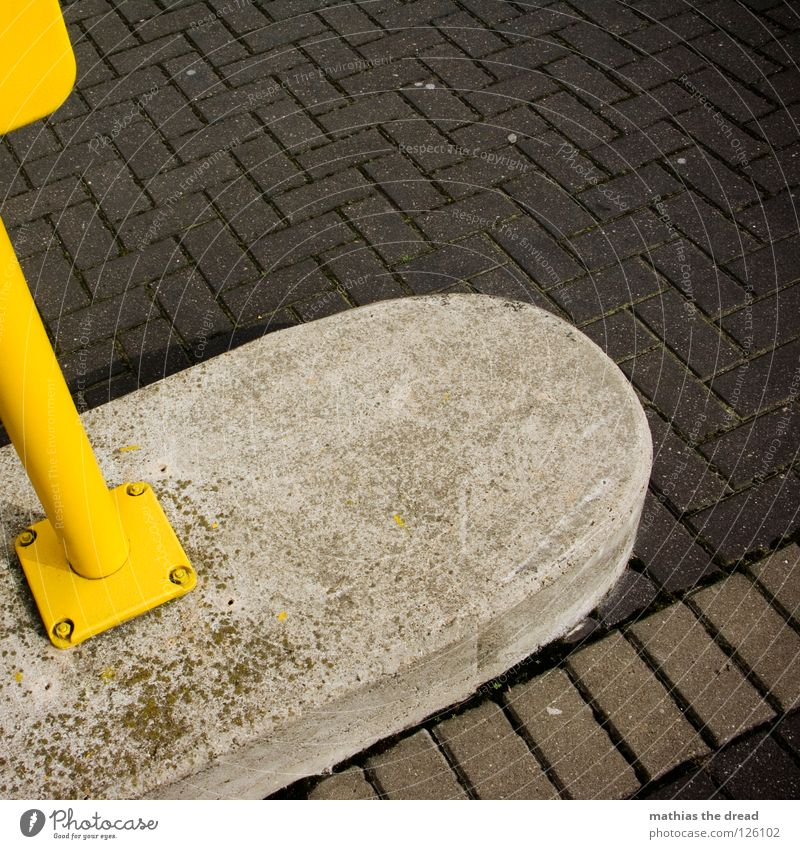 Yellow box Asphalt Hard Uncomfortable Porous Black Gray Gloomy Stripe Parallel Clean Bollard Allow Attach Screw Iron Rectangle Geometry Paving tiles Cold Ice