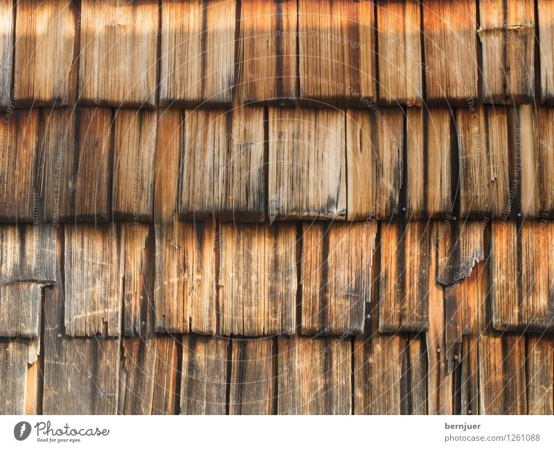 Hoiz before da Hüttn Wood Simple Cheap Good Brown Wooden wall Structures and shapes Background picture Shingle roof Weathered Old Rustic Rural Deserted