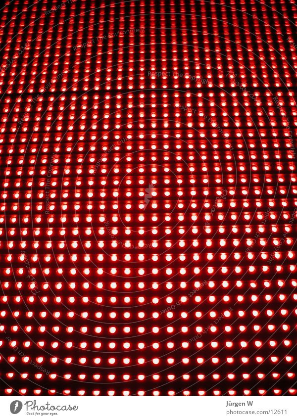 Red LED 1 Neon sign Light Pattern Electrical equipment Technology shine rows Row
