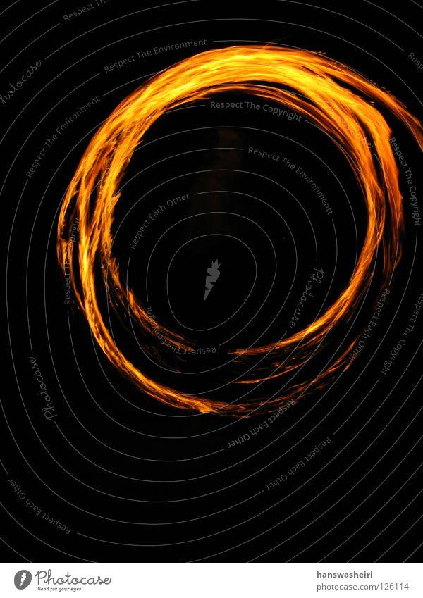 Black Yellow Dark Orange Blaze Circle Round Leisure and hobbies Wing
