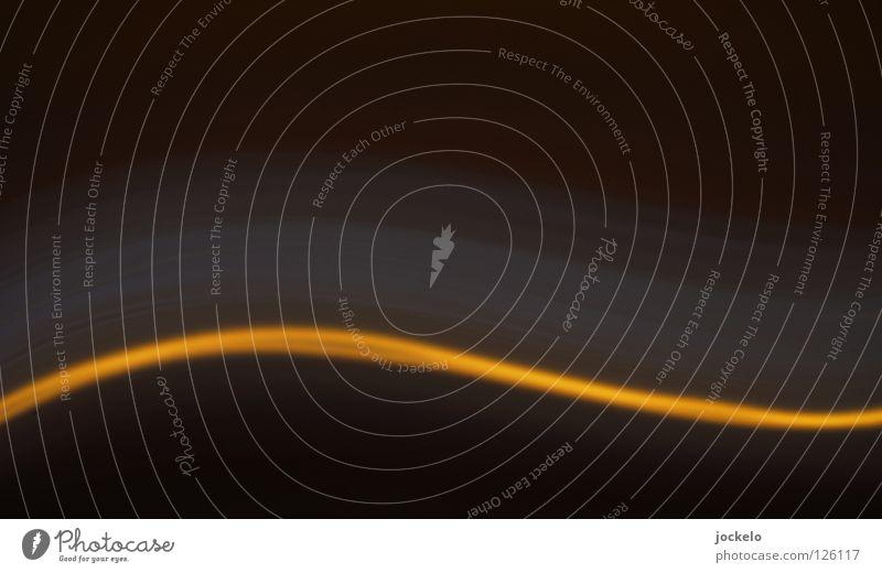 Joy Black Yellow Dark Movement Line Curve Rotation Wavy line