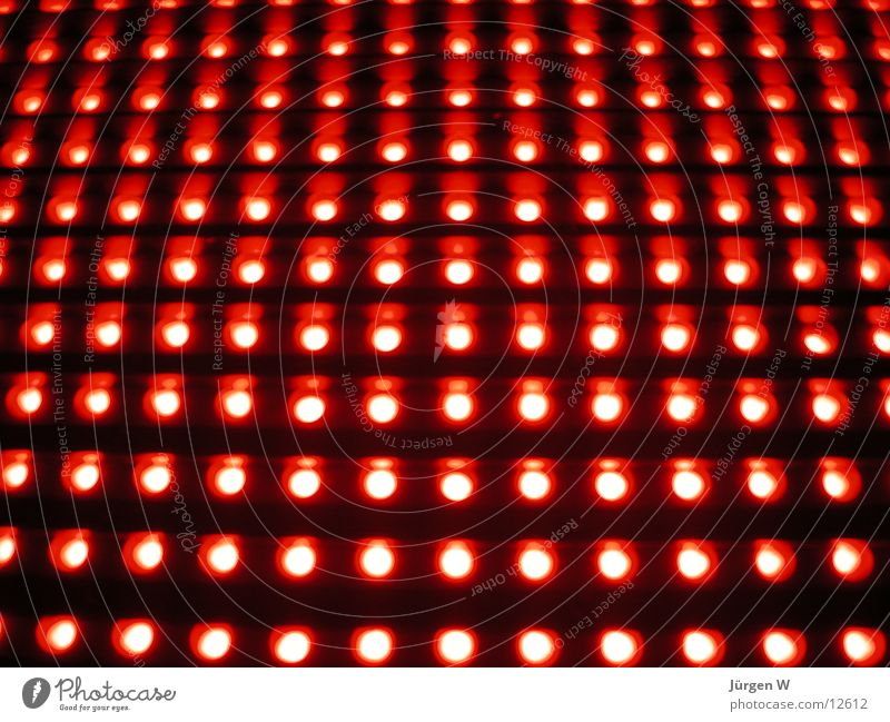 Red LED 2 Neon sign Light Pattern Electrical equipment Technology Row rows shine