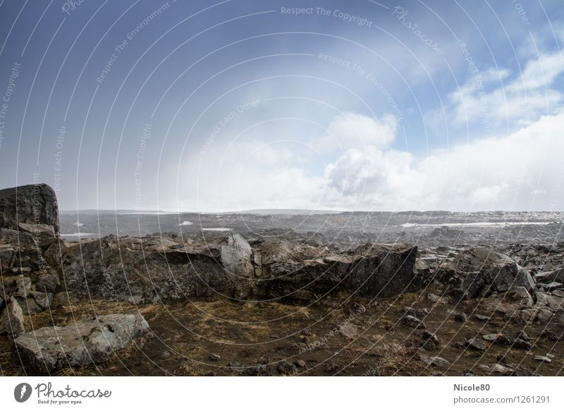"""Iceland 15/7 - """"Stone desert"""" at Dettifoss Landscape Earth Clouds Storm clouds Climate Weather Beautiful weather Bad weather Adventure Sparse Loneliness Rock"""