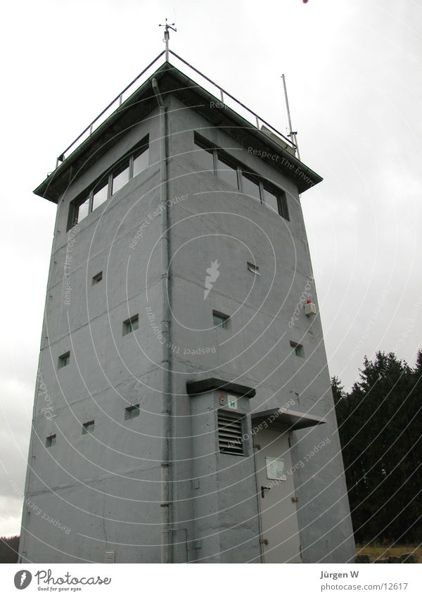 Gray Germany Border Historic GDR Watch tower