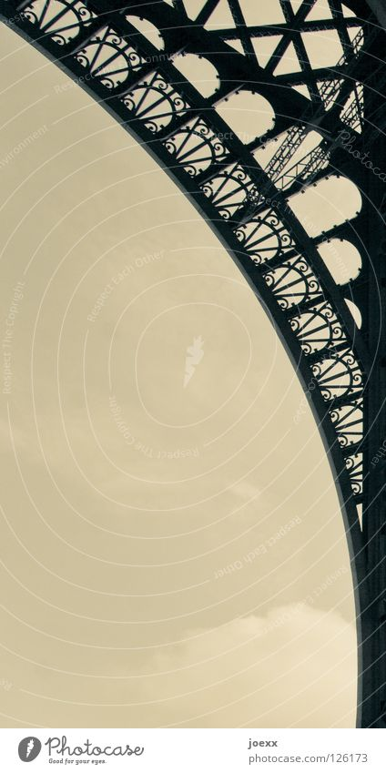electric arc Foreign countries Manmade structures Eiffel Tower Iron France Gray Historic Trip Nostalgia Paris Radius Arch Curlicue Steel Symbols and metaphors