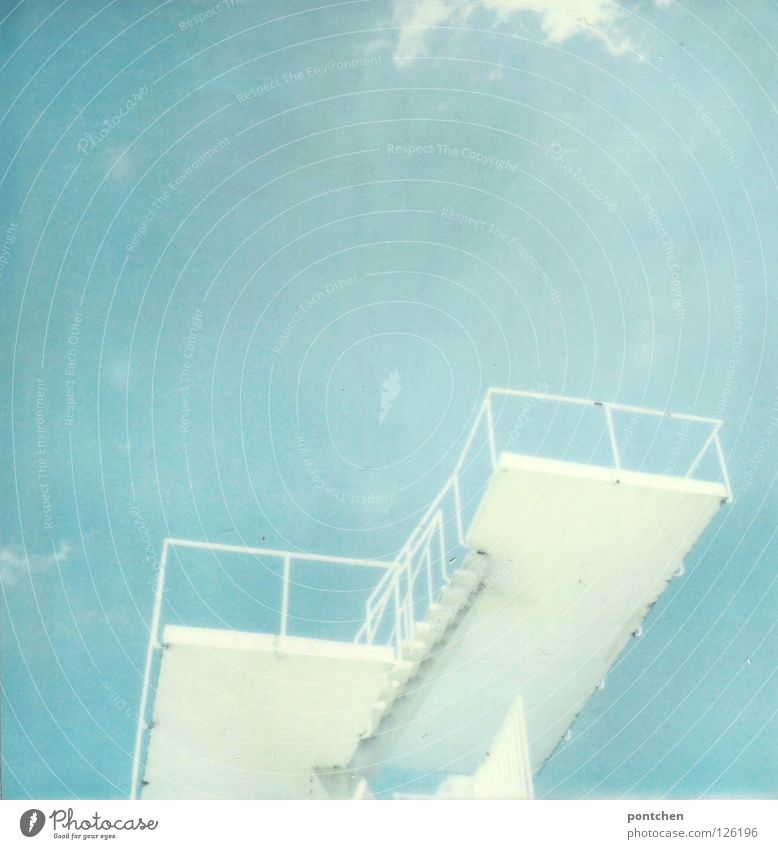 Sky Blue Water White Vacation & Travel Sun Summer Joy Freedom Jump Moody Fear Leisure and hobbies Tall Stairs