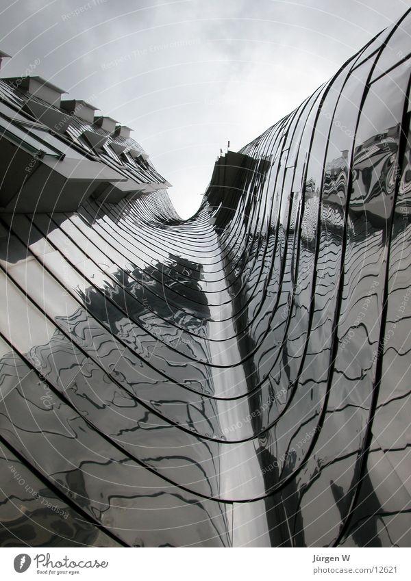 Sky Clouds Metal Waves Architecture Duesseldorf Gehry buildings