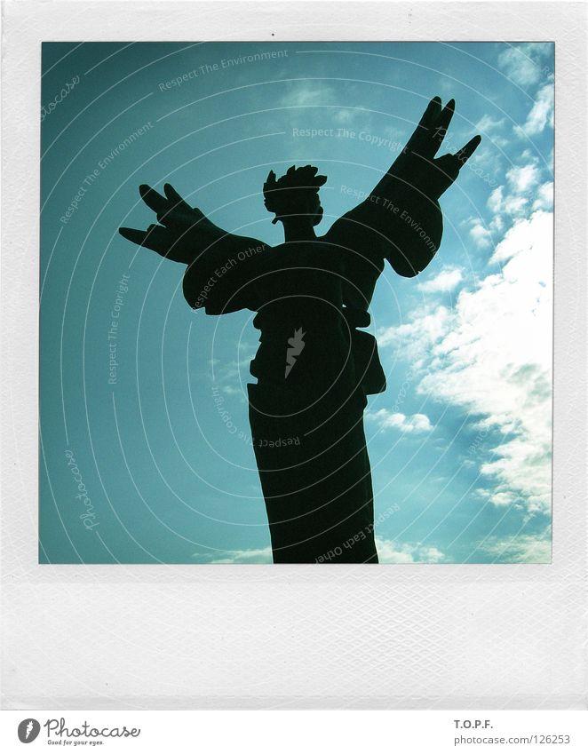 Angel Wing Statue Historic Holy Greece Eternity Heavenly Olympics Polaroid Bust