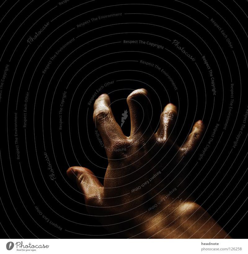 Hand Black Dark Fear Skin Glittering Wet Fingers Empty Damp Panic Door handle Perspiration