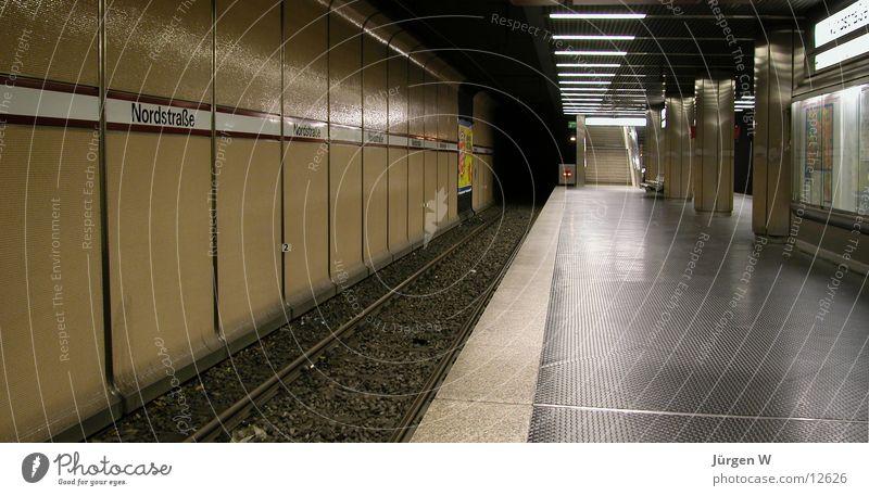 Empty Railroad tracks Station Underground Train station London Underground Platform