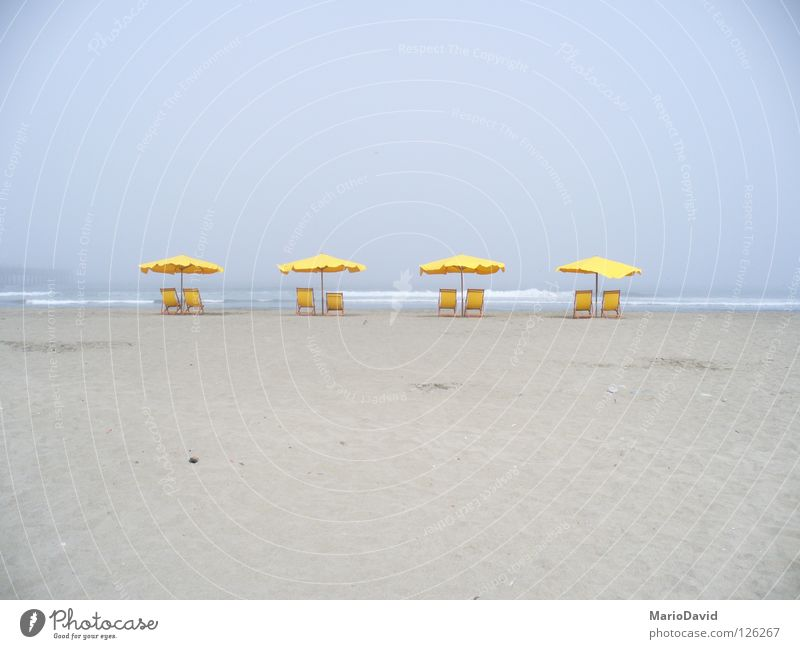 Summer Yellow Beach Countries sea chair parasol sun place country Sand