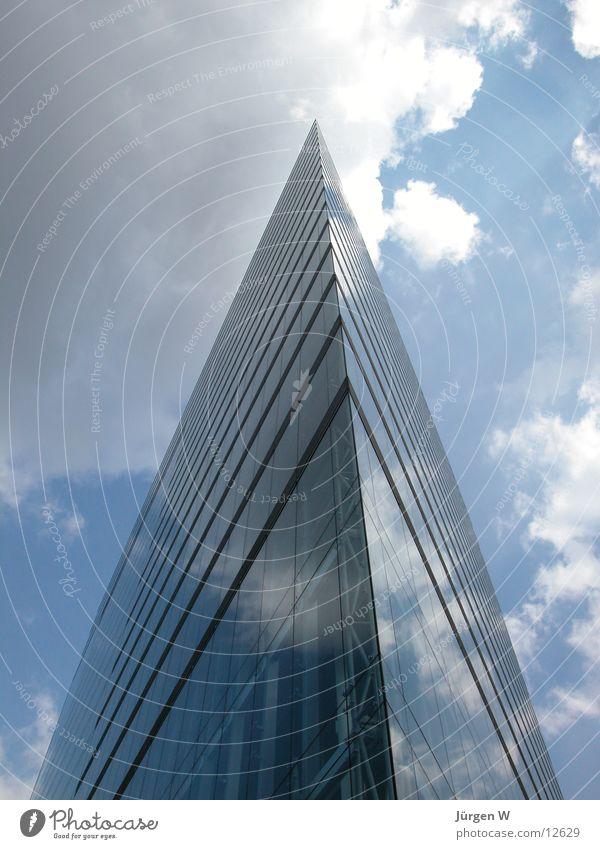 Sky Blue Clouds Architecture High-rise Modern Corner Point Duesseldorf