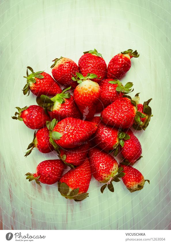 strawberries Food Fruit Dessert Nutrition Organic produce Vegetarian diet Diet Style Design Healthy Eating Life Summer Garden Table Nature Strawberry Vitamin