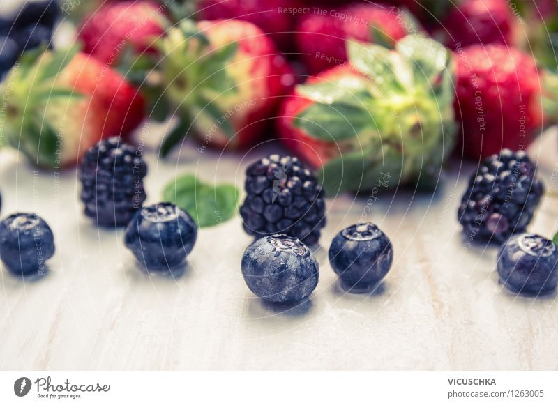 Fresh Garden Berries Food Fruit Dessert Nutrition Organic produce Vegetarian diet Diet Juice Style Design Healthy Eating Life Summer Table Nature Mixture