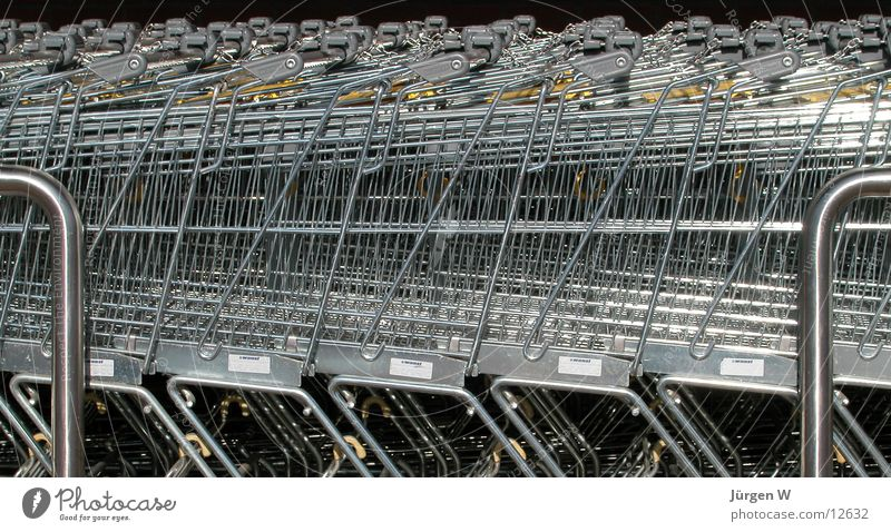 Metal Services Row Consumption Shopping Trolley Carpool