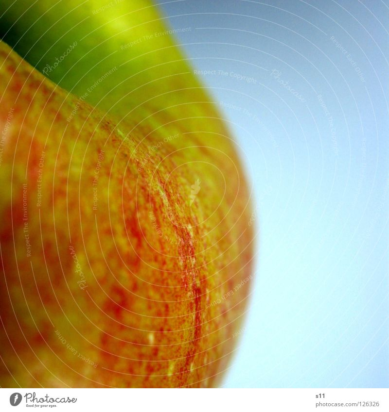 Nature Green Red Yellow Nutrition Healthy Fruit Skin Sweet Round Apple Anger Stalk Smoothness Juicy Vitamin
