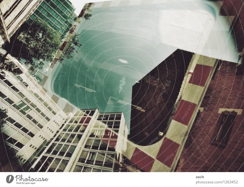 City House (Residential Structure) Wall (building) Architecture Berlin Wall (barrier) Facade Living or residing High-rise Manmade structures Bank building Mirror Capital city Downtown Analog Double exposure