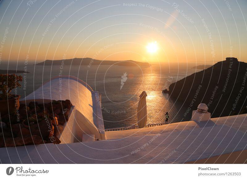 Vacation & Travel Water Sun Ocean Calm Beach Architecture Emotions Style Lifestyle Brown Orange Dream Tourism Elegant Island