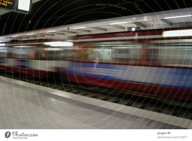 Railroad Speed Fantastic Underground Train station London Underground