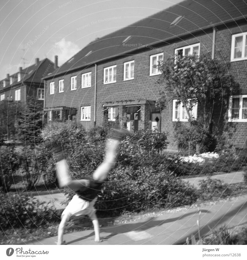 cartwheeler Cartwheel House (Residential Structure) Sixties Human being Black & white photo child